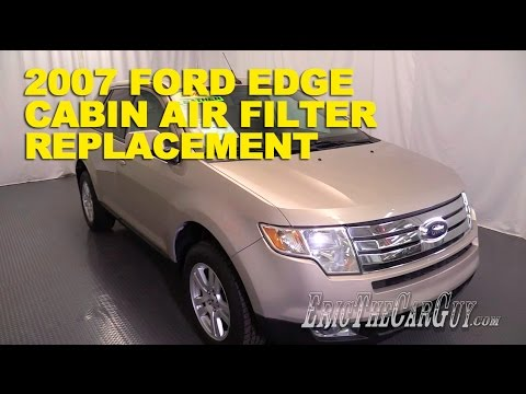 2006-2014 Ford Edge Cabin Air Filter Replacement -EricTheCarGuy