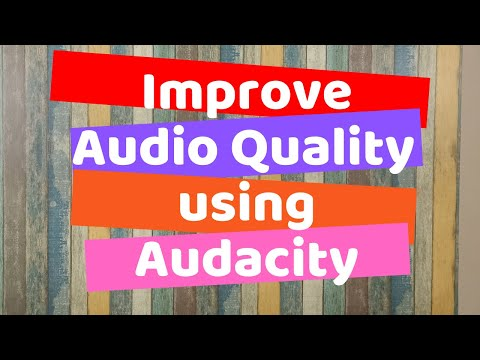 Improve Audio Quality of Educational Video using Audacity | Dr. Yogendra Pal