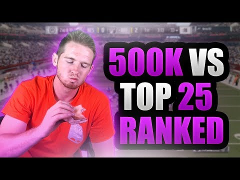 500K WAGER VS TOP 25 RANKED MUT PLAYER | Madden 17 Ultimate Team 500k WAGER