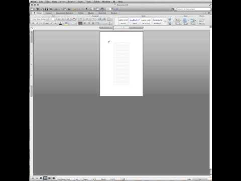 Set up an index card in Word