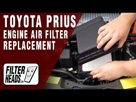 How to Replace Engine Air Filter 2011 Toyota Prius L4 1.8L