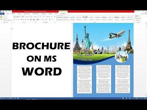 How To Make Brochure On MS Word