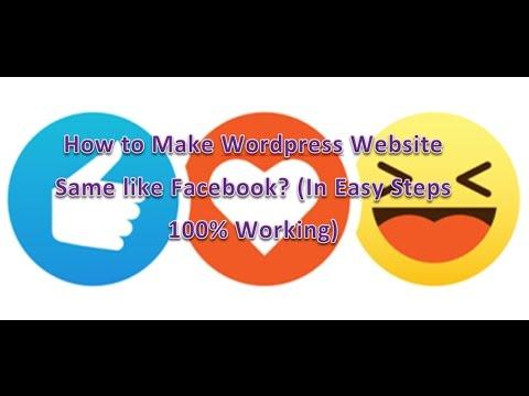 How to make Dynamic Website same like facebook Using Wordpress