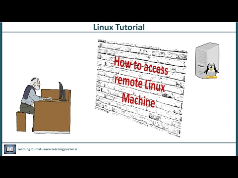 Linux Tutorial - How to access remote Linux machine