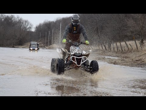 Xxx Mp4 Ice And Water Crossing With ATV 39 S And SXS 39 S 3gp Sex