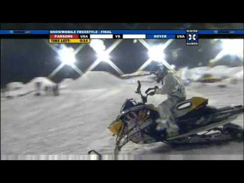 Joe Parsons Winter X-Games 13 Snowmobile Freestyle First