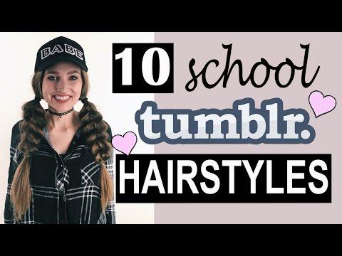 10 Tumblr SCHOOL Hairstyles! ♡ | Courtney Randall