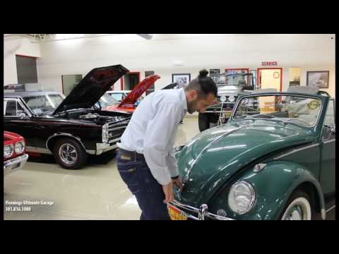 '60 VW Beetle Cabrioletfor sale with test drive, driving sounds, and walk through video