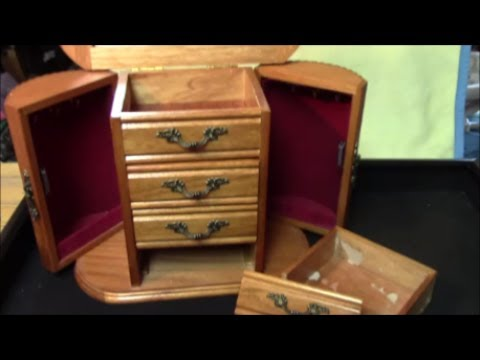 From Trash to Treasure -episode 1:  Old Jewelry Box Makeover / How to restore