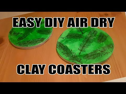 DIY Air Dry Clay Coasters