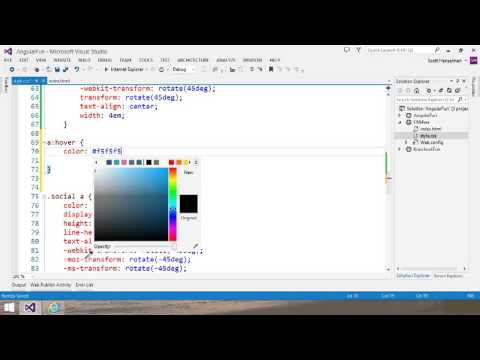 Visual Studio 2013 Web Editor Features   CSS