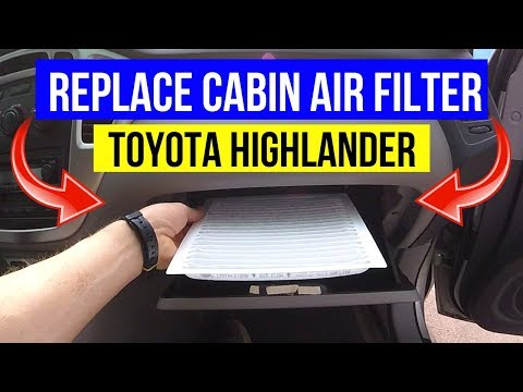 How To Replace Toyota Highlander CABIN Air Filter -Jonny DIY