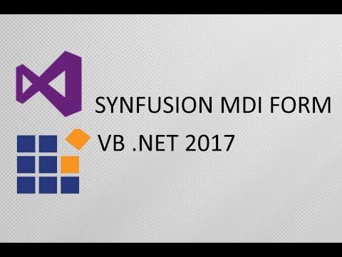 Syncfusion Tutorial MDI Form VB Net 2017