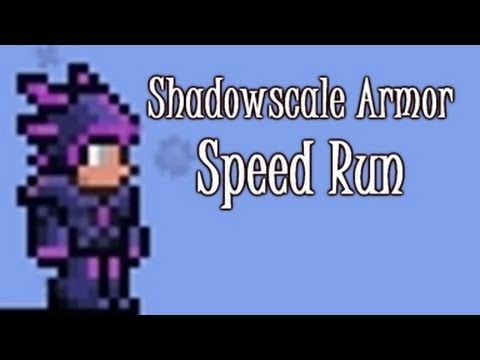Terraria - Speed Run 1, Shadowscale armor, Nightmare Pickaxe and Eater of Worlds