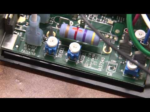 Adjusting the MC-SCR Motor System for Sewing Machines