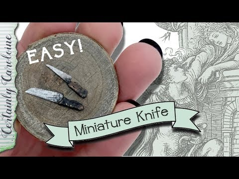 Super Easy DIY Miniature Knife/ How to Make a Miniature Knife for a Fairy Kitchen