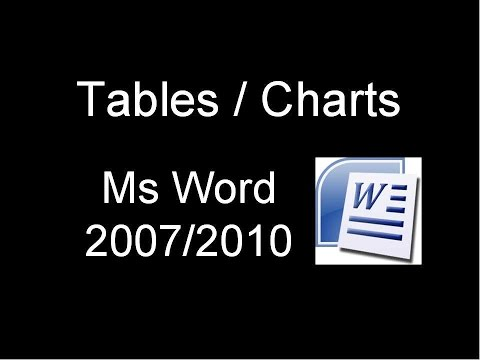 Draw a Table - Ms Word 2007 /2010