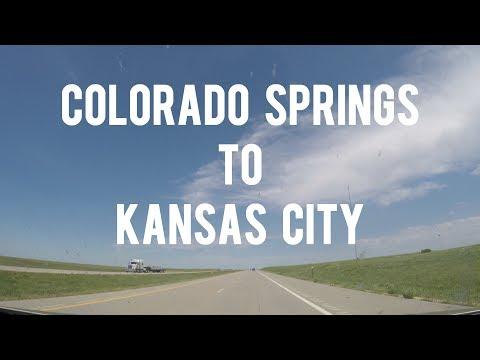 Let's Drive - Scenic Time Lapse Drive from COLORADO SPRINGS, Colorado to KANSAS CITY, Missouri