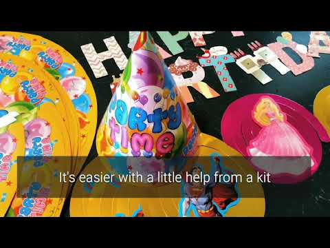 Happy Birthday! A decorating kit by Home Kitty