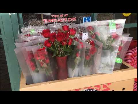 Trader Joe's $17.99 Valentines Dozen Rose set with Vase and Bag.  I should have got this! 2018