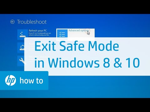how to restore laptop in safe mode