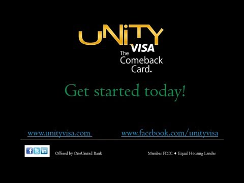 Introducing UNITY Visa... a New Secured Credit Card