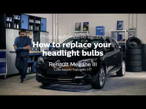 How to replace headlight bulbs on your Renault Megane 3
