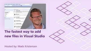 The fastest way to add new files in Visual Studio