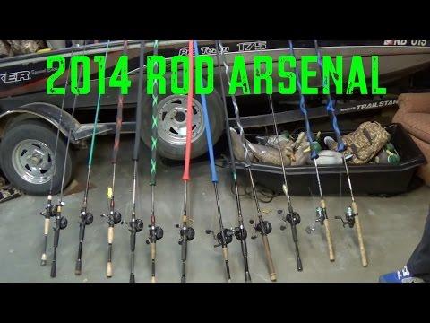 2014 Rod and Reel Arsenal - Bass Fishing