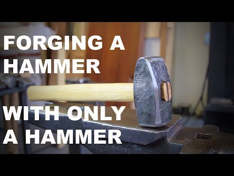 Forging a Hammer by Hand - Blacksmithing