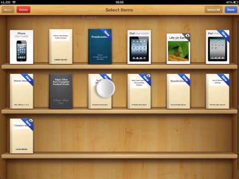 How to delete a book from iPad iBooks