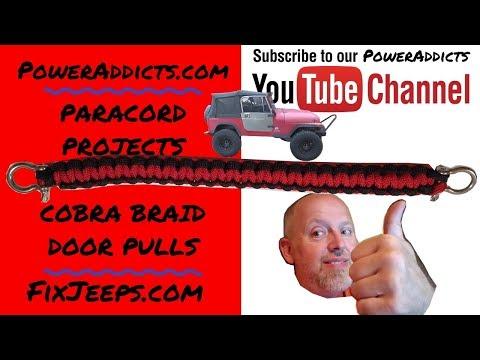 Paracord Project - Jeep Door Handle in the Cobra Weave