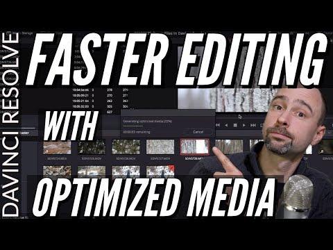 Faster Editing In Davinci Resolve using Optimized Media (Proxy Files) - Tutorial