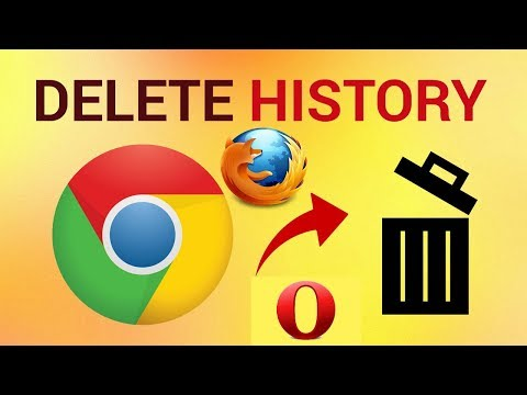 How to delete Google Chrome/Mozilla Firefox Browsing history