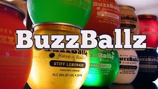 http://www.thefndc.com/ We break radio silence by reviewing nine varieties of BuzzBalls, a new product that will get you smashed quickly. They are 20% alchol by volume and about $3 apiece at your local convenience store.   Flavors reviewed are Tequila-Rita, Overdue Blue, Choc Tease, Forbidden Apple, Stiff Lemonade, Lotta Colada, Cran Blaster, Peach Balls, and OJ Screamer.  Most of these flavors were pretty good, the Lotta Colada and Choc Tease were exceptional. Only the Cran Blaster received thumbs down from everyone on our panel. Watch and subscribe, and let us know if you