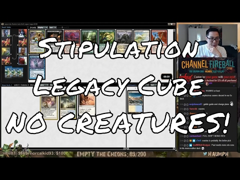 MTG - Stipulation Legacy Cube - NO CREATURES! Greatest Deck Ever!