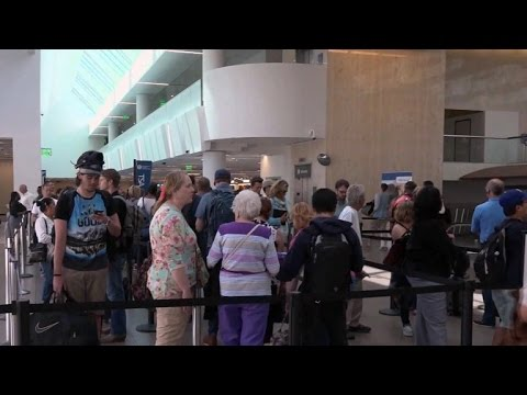 Inside the LAX airport terminal swaps