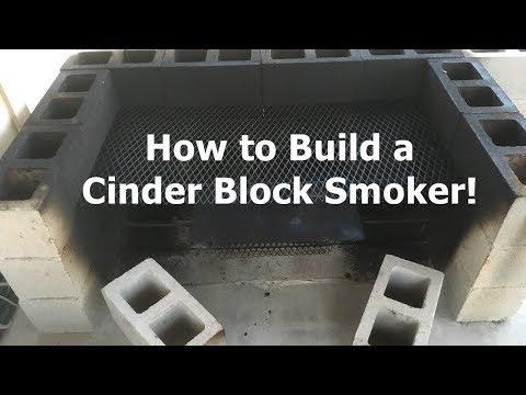 How to Make a Cinder Block Smoker