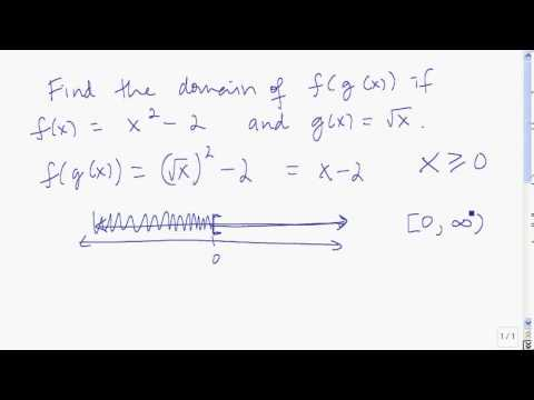 The domain of composite functions