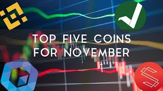 Top 5 Coins to Watch in November | Binance, Substratum, & more!