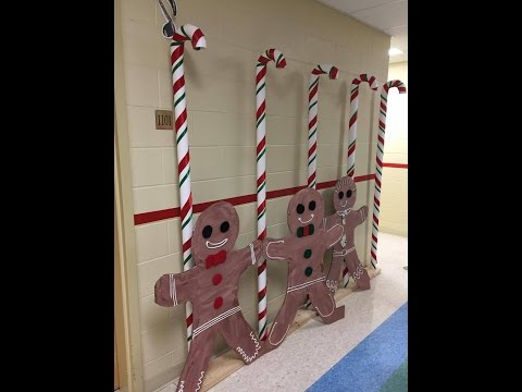 DYI HUGE CANDY CANES DECORATIONS PVC TUBES; Christmas fun