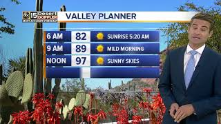 Triple digits expected throughout the work week