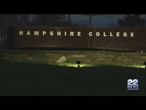 Hampshire College student protesters burn American flag