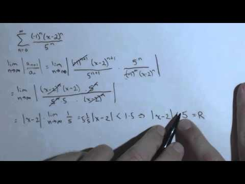 Interval of Convergence Ch8R 5a