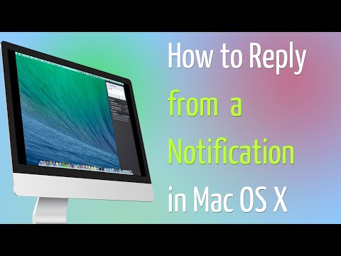 How to Reply from a Notification in Mac OS X 10 9