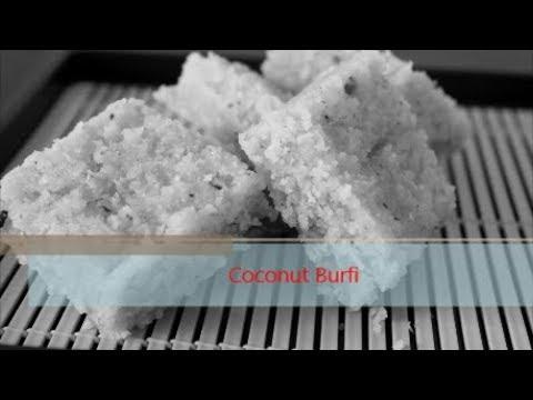 Coconut Burfi/തേങ്ങ ബര്ഫി By COOK WITH DEEPA