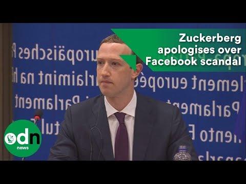 Mark Zuckerberg apologises over Facebook scandal