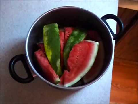 Storing Watermelon in a Pot