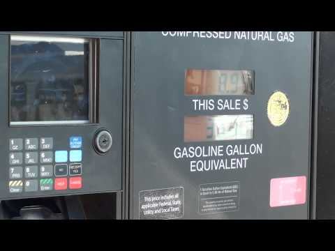 Filling car with Natural Gas at San Francisco Airport, 790 North McDonnell