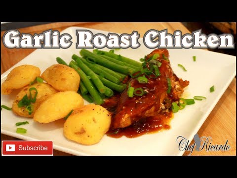 Garlic Roast Chicken Breast With Vegetable And Roast Potato And Gravy... | Recipes By Chef Ricardo